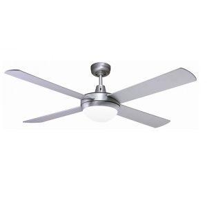 Fanco urban 2 ceiling fan quiet bedroom fan urban 2 ceiling fan with light e27 brushed aluminium 52 mozeypictures Images