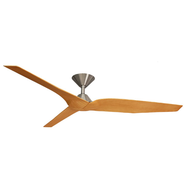 Infinity Dc Ceiling Fan With Remote Brushed Chrome Timber Look Blades 54