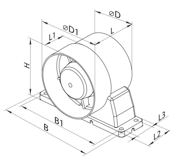 Axial Vko In Line Fan 150mm Fanco